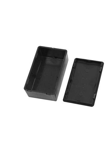 MPLG Kunststoff Elektronische Projektbox Schwarz Gehäuse Instrumentenkoffer Elektrobedarf Aufbewahrungsbox 100X60X25Mm 1