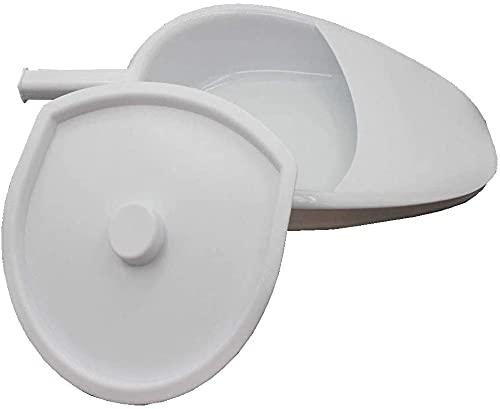 LiuliuBull Bedpans con Tapa - Estable/Grueso/Firme/De Trabajo Pesado/Liso para Pacientes con Cama De Cama Bariátrica Y Ancianos