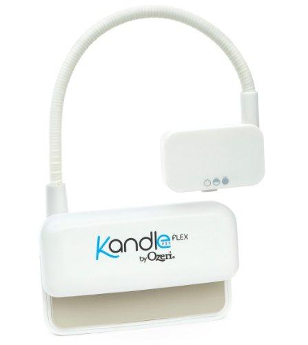 Ozeri Kandle Flex, LED Leselampe für eBook Reader, weiß Buchlampe und Klemmlampe