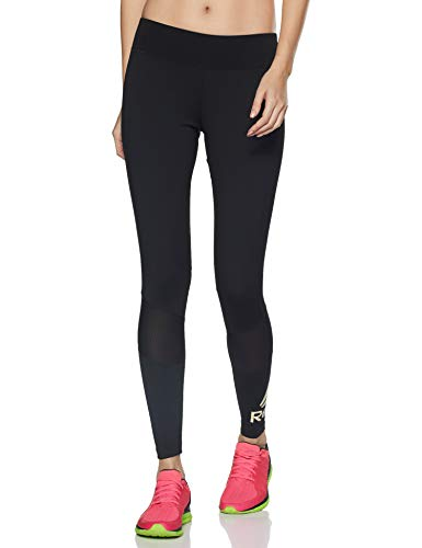 Reebok WOR Big Logo Tights Mallas, Mujer, Negro, S