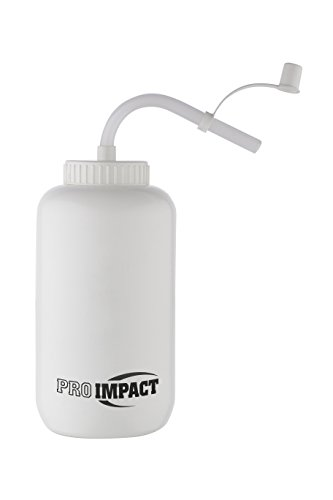 Pro Impact Boxing Water Bottle - Squeezable Plastic w/Long Straw - Ideal for Gym Yoga Sports Boxing Lacrosse Football Hockey Cycling & Outdoor (35.5 Oz.) (White)
