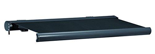 Jet-line Vollkassettenmarkise 5 x 3 m Sunshade grau/grau Markise Vollkasetten Markise Sonnenschutz UV Terasse Garten Balkon Motor Kasette Aluminium