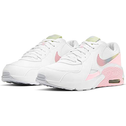 Nike Air MAX EXCEE MWH (GS), Zapatillas para Correr, White Multi Color Pure Platinum Arctic Punch, 38 EU