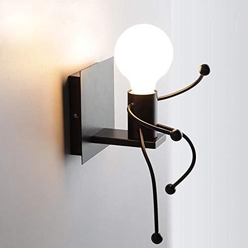 Wandlamp antieke wanddecoratie met lichtsnoer hangen binnen en buiten tuin -G213190A_China_white_as_show