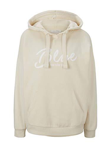 TOM TAILOR Denim Damen 1024830 Hoodie Sweatshirt, 22515-Soft Creme Beige, L