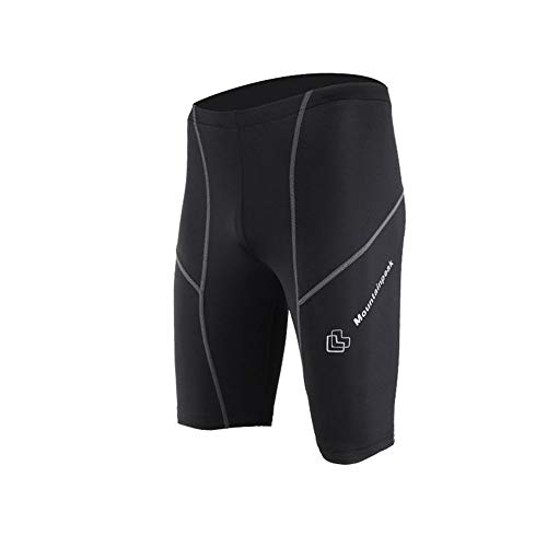 LIUFENGLONG Men's Sports Shorts, Sports Tights Cropped Pants Quick-Drying Fitness Compression Stretch Training Shorts Black Your Best Sport Buddy (Color : Black, Size : M)
