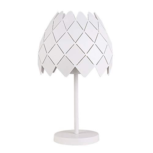 Lámparas de escritorio Simple moderna lámpara de mesa de hierro forjado Sala de estar creativa Estudio Lámpara de mesa Dormitorio Lámpara de noche Lámpara de mesa para niños ( Color : White )