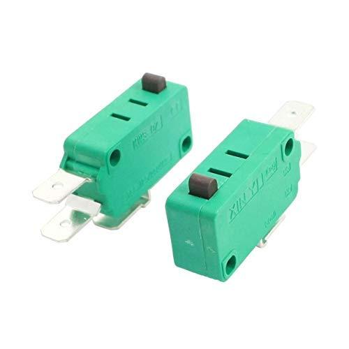 PRINDIY 2 Unidades KW3-0Z Microinterruptor AC 16 A 125 V / 250 V pulsador Micro Interruptor
