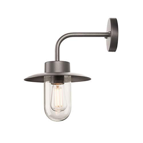 SLV LED Außen-Wandleuchte MOLAT für die Beleuchtung von Wänden, Wegen, Eingängen | LED Strahler, Wand-Lampe, Aussenleuchte, Gartenlampe, Wegeleuchte | industriell vintage | E27, max. 60W, EEK E-A++