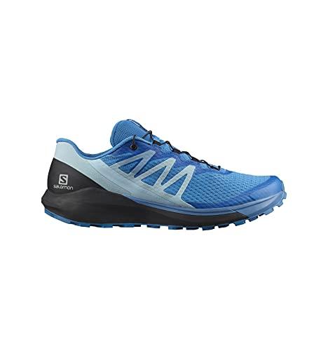 SALOMON Shoes Sense Ride 4, Zapatillas de Trail Running Hombre, Blue Aster/Black/Crystal Blue, 44 2/3 EU