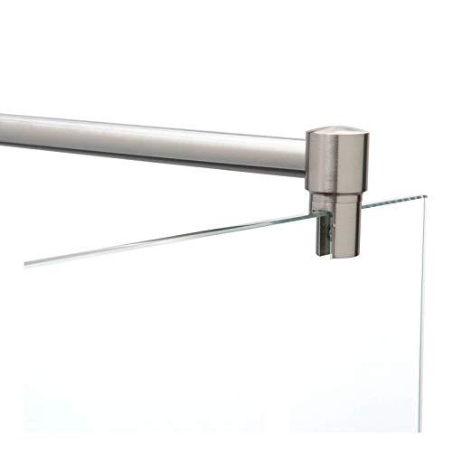 Stabilisierungsstange für Duschen, Stabilisator Duschwand, Stabilisationsstange Glas-Wand (120cm, Edelstahl)