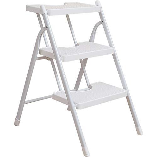 Ladder Steel Folding Ladder, Three-step Ladder, Light, Thick Iron Pipe, Stronger Bearing Capacity Folding Step Stool Ladder