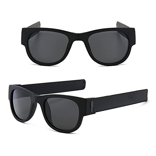 YFAX, Pulsera Slap Sunglasses, Gafas de Sol polarizadas Flexibles Plegables, Gafas polarizadas de Marco, Gafas de Sol papá-A4