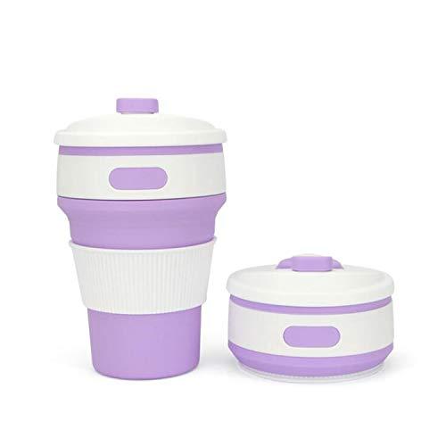 BABIFIS Opvouwbare Siliconen Draagbare Siliconen Telescopische Drinkbare Koffie Beker Multifunctionele Opvouwbare Silica Cup Reizen