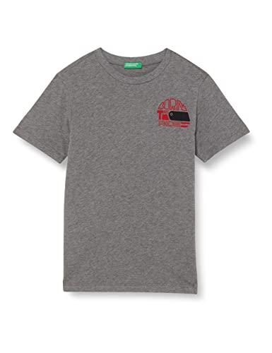 United Colors of Benetton T-Shirt 3I1XC15B5 Camiseta, Grigio Scuro 507, 110 cm para Niños