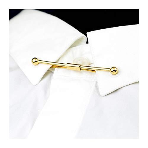 Prevenir La Exposición De Metal Collar Clip Alto Grado De Lesión For No Camisa De Los Hombres Ropa De Las Mujeres De La Hebilla Corbatas Clips Regalos Clásicos Unisex (Metal Color : Gold Color)