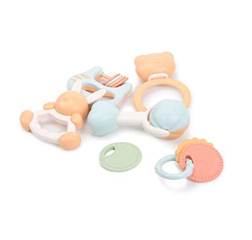 TmDo Kit di Crepitio per Massaggiagengive Puzzle per Bambini, Giocattoli per Massaggiagengive per Neonato Educazione Precoce 3-6-12 Mesi Giocattoli da Masticare per Bambini,Multiple Colour