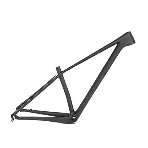 Maikong Mountainbike frame van koolstofvezel, lichtgewicht MTB-frame, mountainbike frame, 29 stuks, matzwarte fietsframe, interne kabelgeleiding