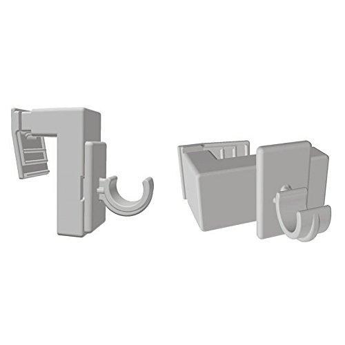 Easy-Shadow - 10 Stück Vario Klemmträger California / Florida verstellbar für 12 mm Vitragestangen / Scheibengardinenstangen / Cafehausstangen - Klemmhalter für Fensterrahmen Rahmenstärke 10 mm - 25 mm Montage ohne Bohren oder Kleben - weiß