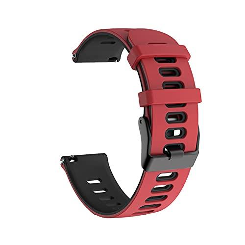 ZXC para Huami Amazfit GTR 2 47 mm Correa GTR2 Sport Pulsera de silicona 22 mm Correa para reloj Amazfit Stratos 3 2 Pace Belt (color de la correa: rojo negro, ancho de la correa: 22 mm)