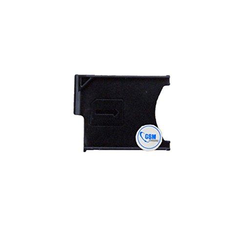 gsm-company*de 2 x SIM Karten Card Halter Tray Adapter Schlitten Holder für Sony Xperia Z L36 H c6603 Schwarz # itreu