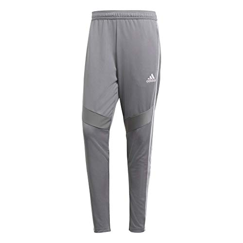 adidas Men's Tiro 19 Training Soccer Pants, Tiro '19 Pants, Grey/White, Small