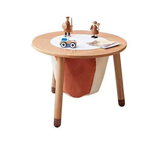 XSN Kinderschreibtisch Schülerschreibtisch Jugendschreibtisch Mit Großer Aufbewahrungstasche, Rundem Tisch, Glatter Oberfläche,Sehr Gut Zum Lernen Und Zeichnen Geeignet