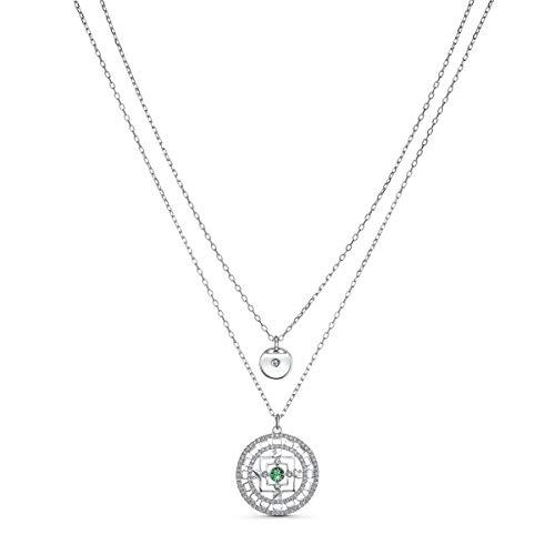 Swarovski Symbolic Mandala Halskette, weiss, rhodiniert