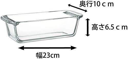 iwaki(イワキ)耐熱ガラスケーキ型パウンドケーキ型角型18×8cm用KBC211