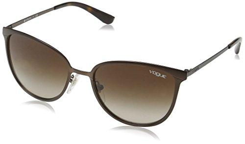 Vogue 0Vo4002S Gafas de sol, Matte Brown Burnt, 55 para Mujer