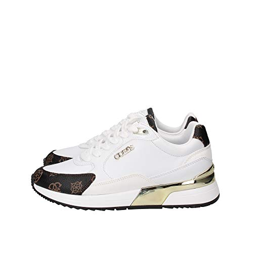 Guess FL5MOXFAL12 WHBR Footwear Main - Zapatillas deportivas para mujer Blanco Size: 38 EU