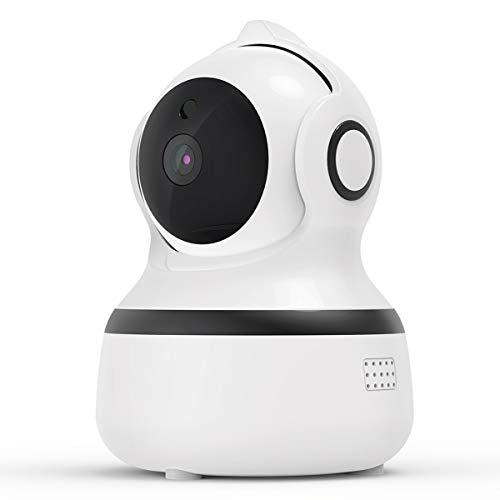 Überwachungskamera Innen WLAN Handy, CACAGOO 1080P FHD WLAN IP Kamera ,Nachtsicht,Bewegungserkennung,2 Wege Audio und Intelligenter Rotation Baby/Haustier/Haus