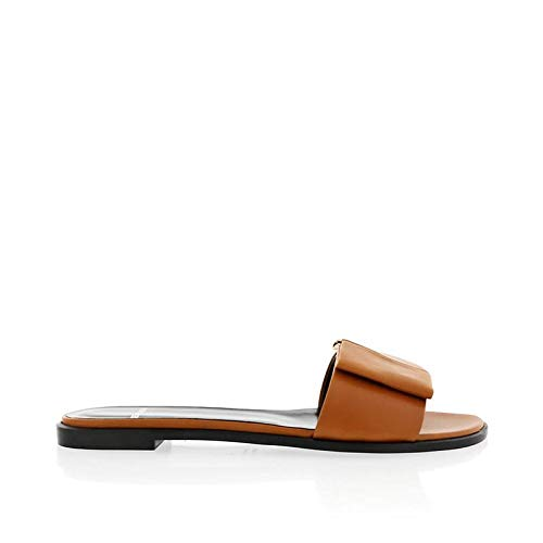 Pierre Hardy Camel Leather Slide with Bow Detail US 8.5 / Italian 38.5 Camel