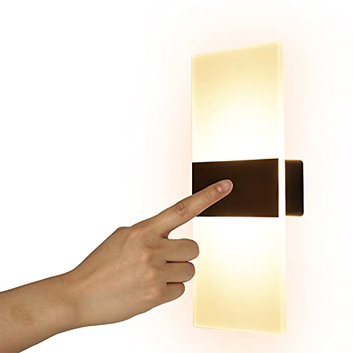 VOMI LED Touch Control Innen Wandleuchte Mit USB Wiederaufladbar Wandlampe Magnetische Wandlicht Helligkeit Einstellbar Nachtlicht 2.5W für Wohnzimmer Schlafzimmer Korridor Gang Warmweiß