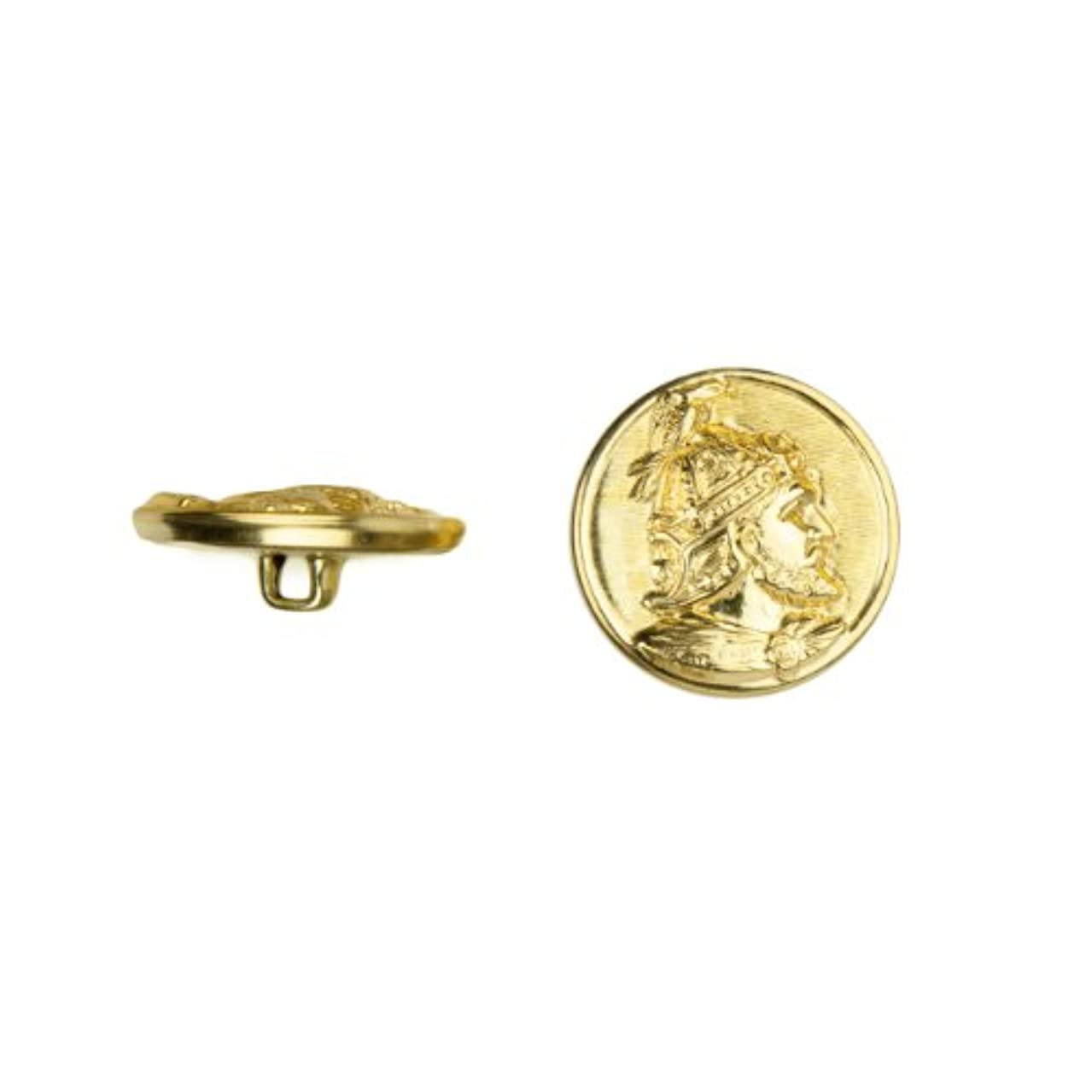 C&C Metal Products 5025 Devonshire Metal Button, Size 30 Ligne, Gold, 36-Pack