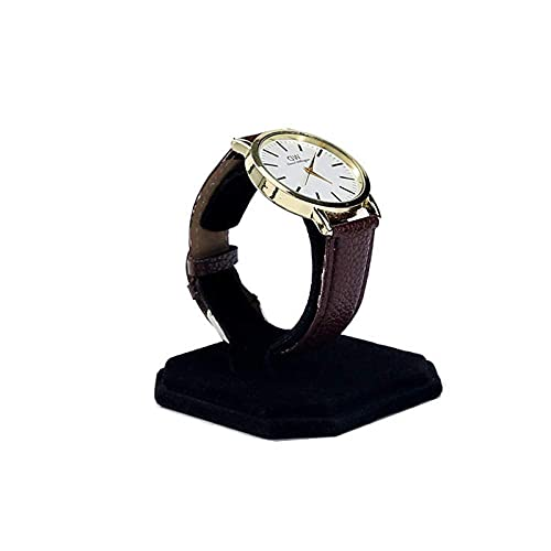 LGR Caja de joyería Caja de Reloj Creativa en Forma de C Pantalla de Reloj Estante de Almacenamiento Pulsera Franela Contador Accesorios de exhibición