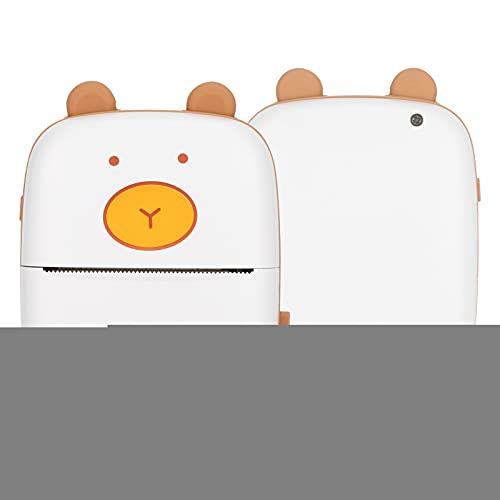 Mini Impresora de Bolsillo portátil FECAMOS, Impresora térmica, Impresora móvil de Bolsillo inalámbrica, para impresión de Fotos de Notas de Etiquetas de Preguntas incorrectas