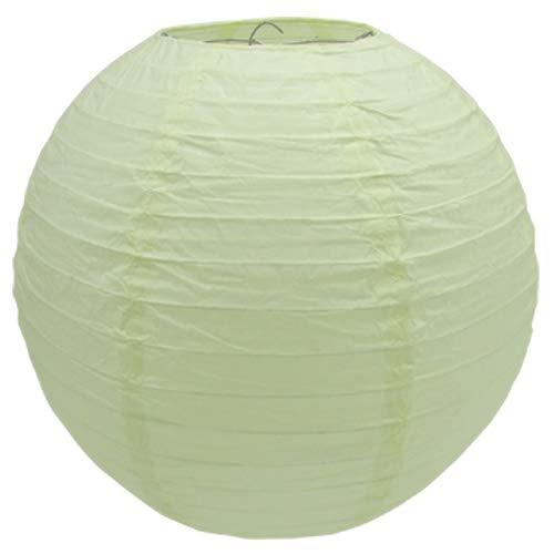 Creativery Papier Lampion 25cm (Creme/hellcreme 820) // Laterne Hochzeit Party Wohnungsdeko Hängedeko Raumdeko Geburtstag Party Feier