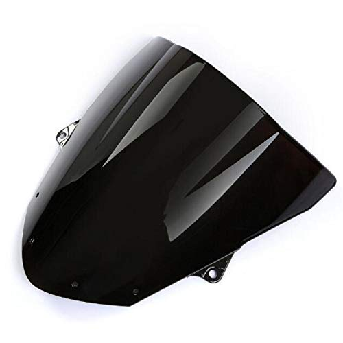 XCJ Motorrad Windschutzscheibe Motorrad Schwarzer Rauch Windschutzscheibe Windschutzscheibe Fairing Fit for Kawasaki Ninja ZX6R 2009-14 /ZX10R 08-10 FF Windabweiser Spoiler Einstellbar Windschild