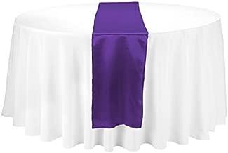 LinenTablecloth 108 Inch Satin Runner Purple