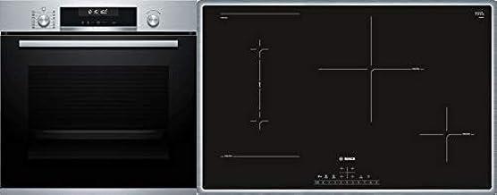 Bosch NVQ645CB5E + HEB578BS1 sets de electrodoméstico de cocina Cerámico Horno eléctrico - Sets de electrodomésticos de cocina (Cerámico, Vidrio y cerámica, Negro, 3600 W, Tocar, 58,3 cm)
