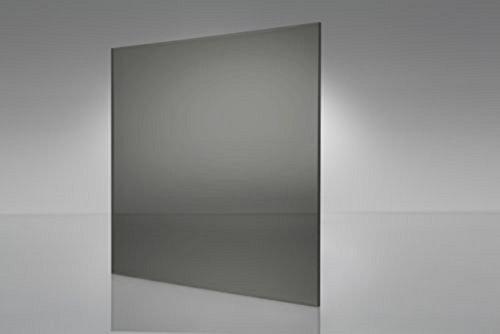 "SIBE-R Plastic Supply - Polycarbonate Sheet Grey Tint Smoke - 48"" x 24""- 1/8"" Thick"
