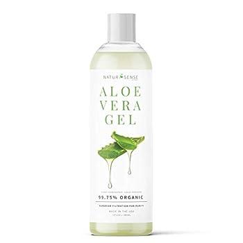 NaturSense by NTRSNS Organic Aloe Vera Gel - Great for Face Hair Sunburn Relief Acne Razor Bumps Psoriasis Eczema Dry Skin Hydration - 12 oz.