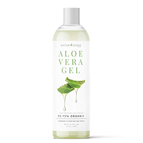 NaturSense Organic Aloe Vera Gel Great for Face, Hair,...