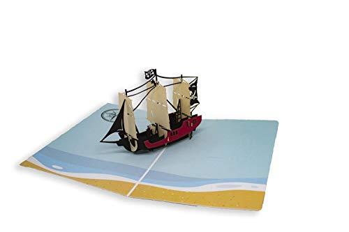 Tarjeta de felicitación de Origami Color, Piratas del Caribe