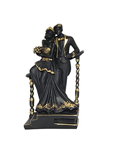 Rs Ganga Valentine Special Love Couples Statue Showpiece Gift Decorative Showpiece (Meat Black)