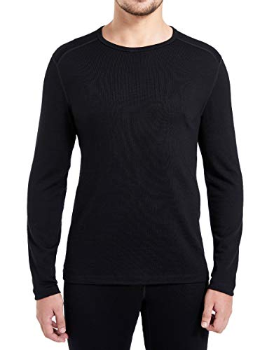 Eizniz Naturwool Men's 100% Merino Wool Base Layer Long Sleeve Crew...