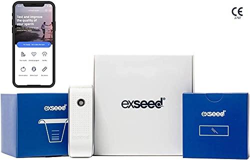 ExSeed Fruchtbarkeitstest für Männer - Das At-Home Testkit mit Allem was Du zum Spermientest brauchst. Enhält 2 Tests. (Smartphone und App benötigt)