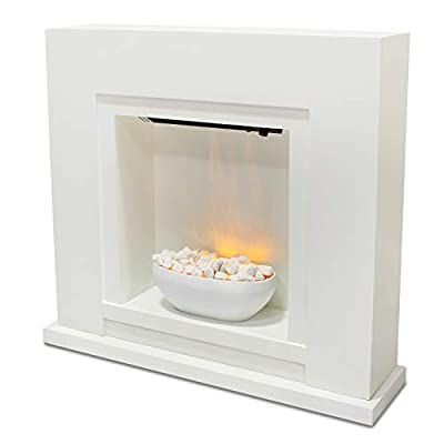 Free Standing Electric Fire Wall Mounted Modern Surround Fireplace Heater Flame