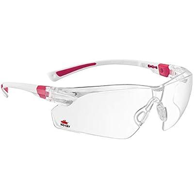 NoCry 506U Safety Glasses, White Frames
